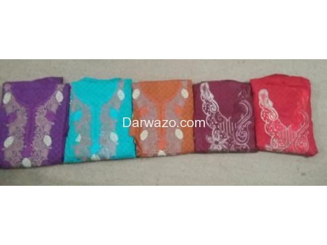 Unstiched Cloth 3 piece delivered from Karachi Rs. 600 only - 1/1