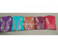 Unstiched Cloth 3 piece delivered from Karachi Rs. 600 only