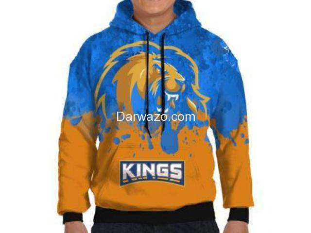 PSL Karachi Kings All Over Printed Hoodie For Men - 2
