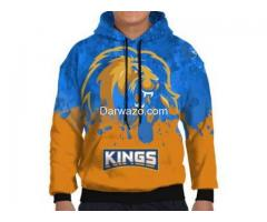 PSL Karachi Kings All Over Printed Hoodie For Men