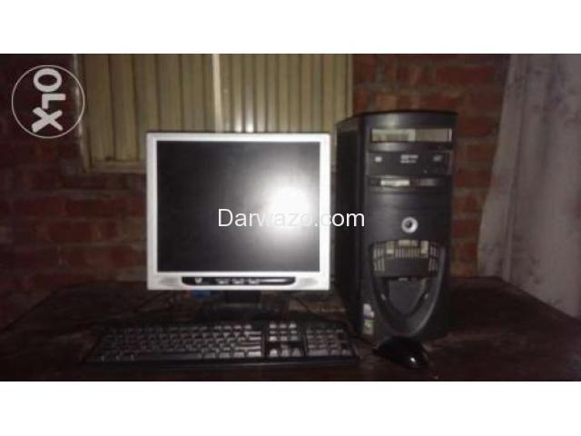 P4 cpu &LCD with 2.8 ghz,1gb ram, DVD writer,20 gb Hard
