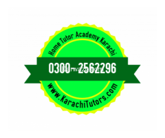 Jun 8th – Oct 5th (Sat) – Larger Home Tuition in Karachi, 03002562296