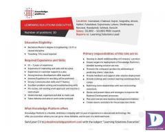 10 Learning Solutions Executives - Islamabad Karachi Lahore Pindi Sahiwal