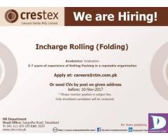 Incharge Rolling (Folding)