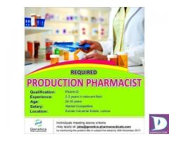Production Pharmacist