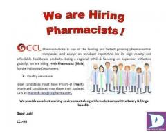 Fresh Pharmacists (Quality Assurance)