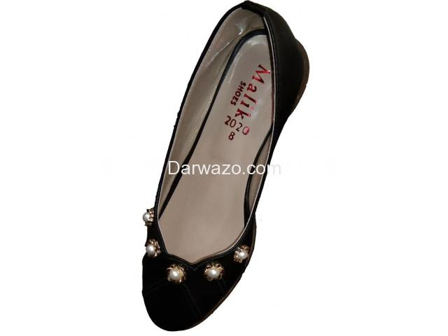Black Design Khussa Ballet Flat Formal & Casual Shoe for Women - 1