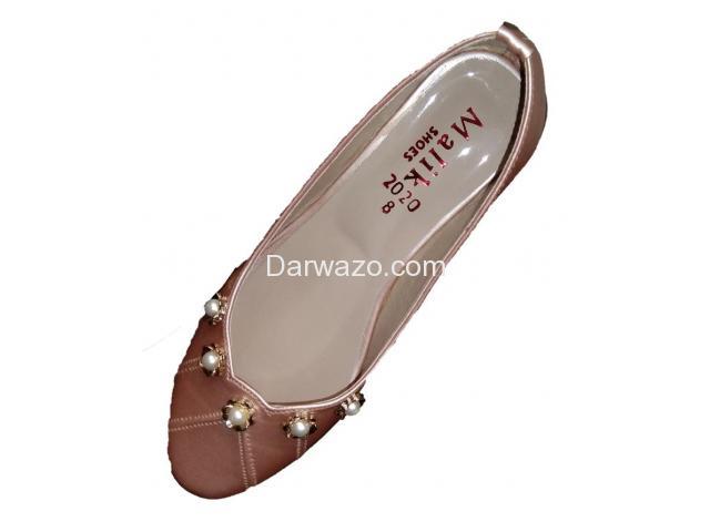 Brown Design Khussa Ballet Flat Formal & Casual Shoe for Women - 1