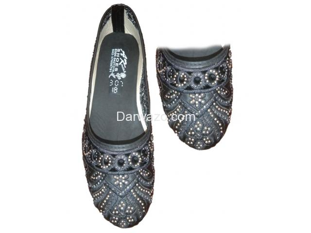 Black Design Ballet Flat Shoe Formal & Casual Shoe for Women - 1