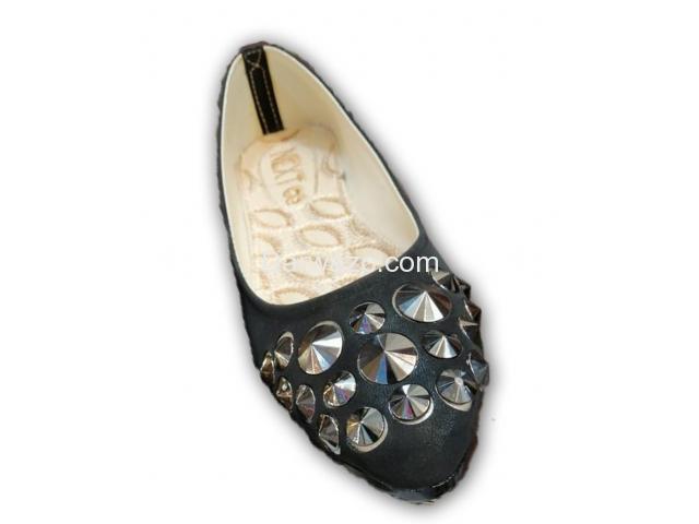 Black Nug shoe Ballet Flat  Formal & Casual Shoe for Women - 1