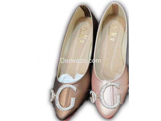 Brown and Pink Flat Shoe Formal & Casual Shoe for Women - 1