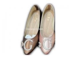 Brown and Pink Flat Shoe Formal & Casual Shoe for Women
