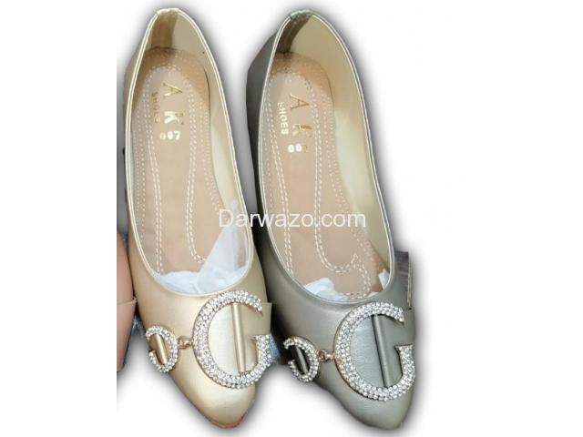 Grey and Skin Flat Shoe Formal & Casual Shoe for Women - 1