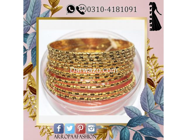 Set of 12 - 32K Gold Plated Bangles Jewellery For Girls and Girl - 1