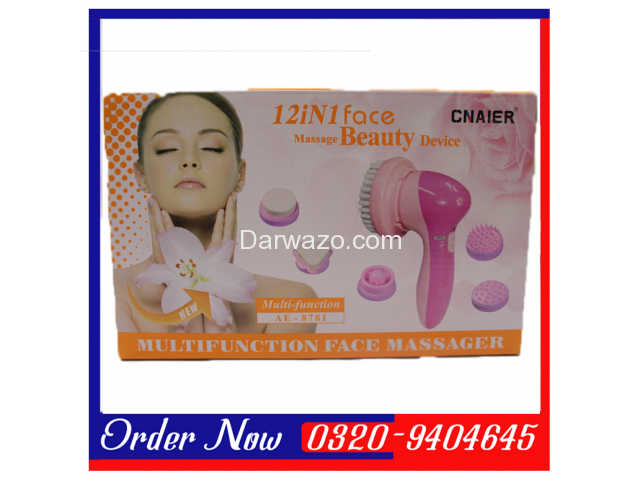 It comes with 12 textured massage attachments. The sponge massage attachment is for cleaning facial - 1