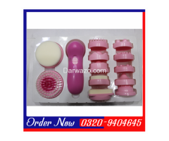 It comes with 12 textured massage attachments. The sponge massage attachment is for cleaning facial - Image 2