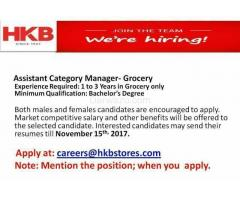 Assistant Category Manager - Grocery
