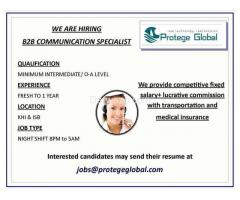 B2B Communication Specialist  - Karachi