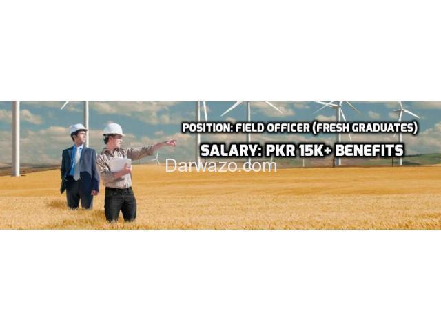 Field Officer - 8 Positions (2 Sindh 6 Punjab)  Multiple Locations - 1