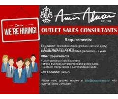 Outlet Sales Consultant Required - Amin Adnan