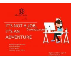 Manager Corporate Sales / Interior Designer / Content Writer / Customer Service
