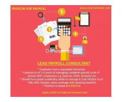 Lead Payroll Consultant Required