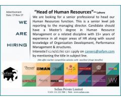 Head of Human Resources