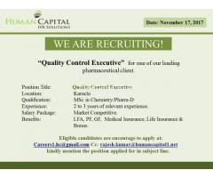 Quality Control Executive