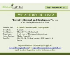 Executive Research and Development