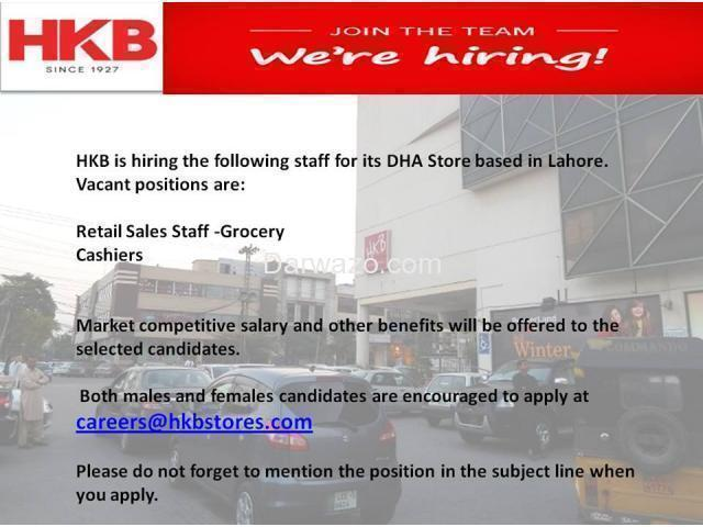 Retail Sales Staff - Grocery and Cashiers Required - 1/1