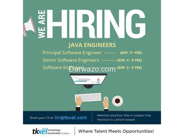 Java Engineers - Multiple Positions and Levels - 1/1