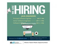 Java Engineers - Multiple Positions and Levels