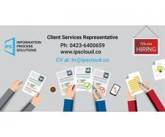 Client Services Representative Required