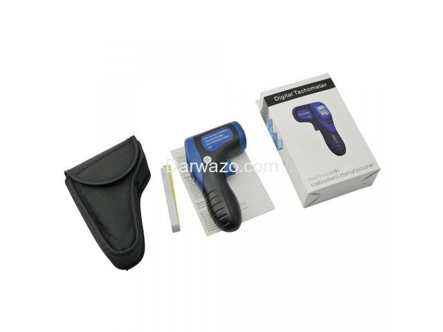 Digital Tachometer/RPM Meter/LCD Photo Tachometer/Motor Speed Gauge - 4