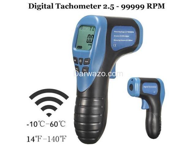 Digital Tachometer/RPM Meter/LCD Photo Tachometer/Motor Speed Gauge - 6