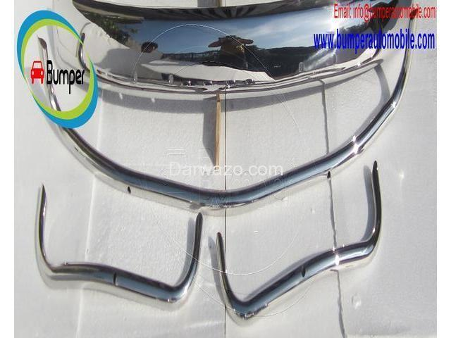 Volkswagen Beetle USA style bumper (1955-1972) stainless steel - 3/4