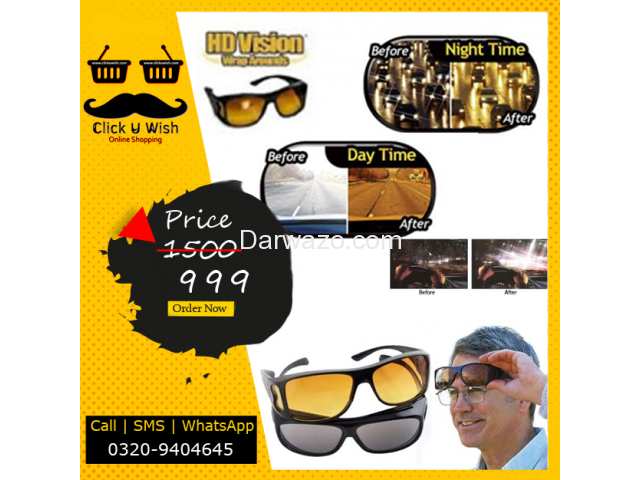 Pack Of 2 HD Vision Wrap Around Day And Night Glasses - 1