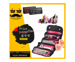 Roll N Go Cosmetic Bag, Hanging Roll-Up Make Up Organizer, Travel Bag