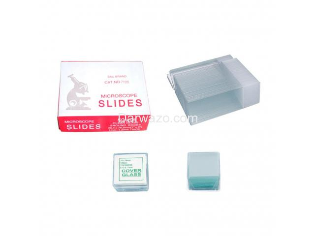 Microscope Slides (50 pieces) & Cover Glass Slides (100 pieces) Microscope Glass Slides - 3