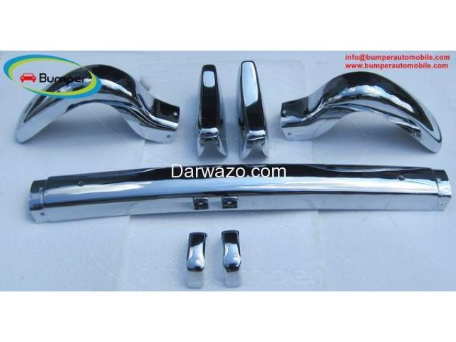 Stainless Steel Bumper Set for the Mercedes W121 Roadster 190SL 1955-1967 - 1