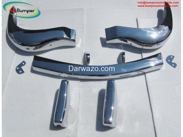 Stainless Steel Bumper Set for the Mercedes W121 Roadster 190SL 1955-1967 - 3