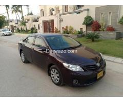 TOYOTA COROLLA GLI (ECOTEC) MODEL 2012, ORIGINAL RED VINE COLOR, FF CNG