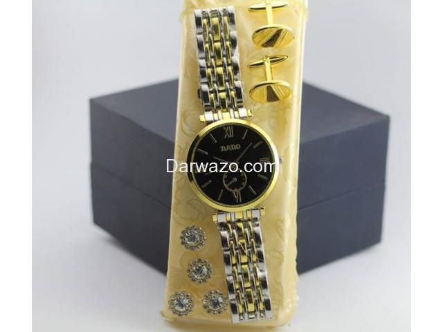 High Quality Watch with Cufflinks and Fancy Buttons for Sale - 1