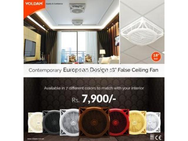 18 Hi-Speed Decorative False Ceiling Fan - 1/3