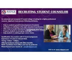 Student Counselor Required