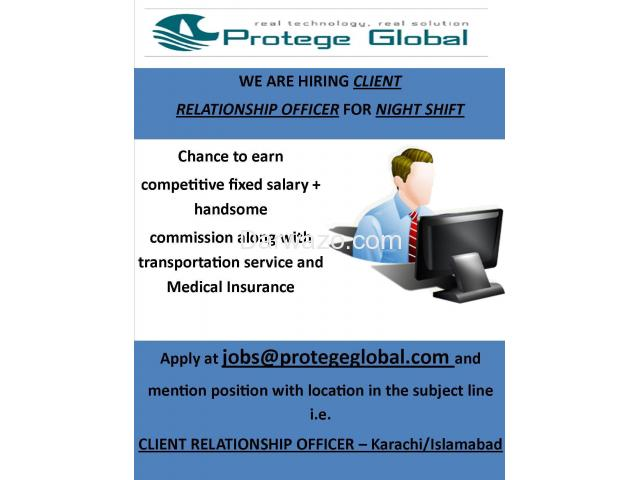 Client Relationship Offier Required - Multiple Locations - 1