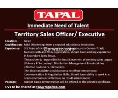 Territory Sale officer / Executive - Tapal Tea