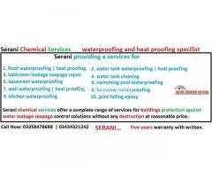 Bathroom leakage seepage repair without any destruction in Karachi. Serani Chemical services
