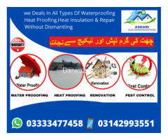 Roof Waterproofing Roof Heat Proofing Water Tank Leakage Treatment Services.
