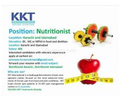 Nutritionist Required - Karachi